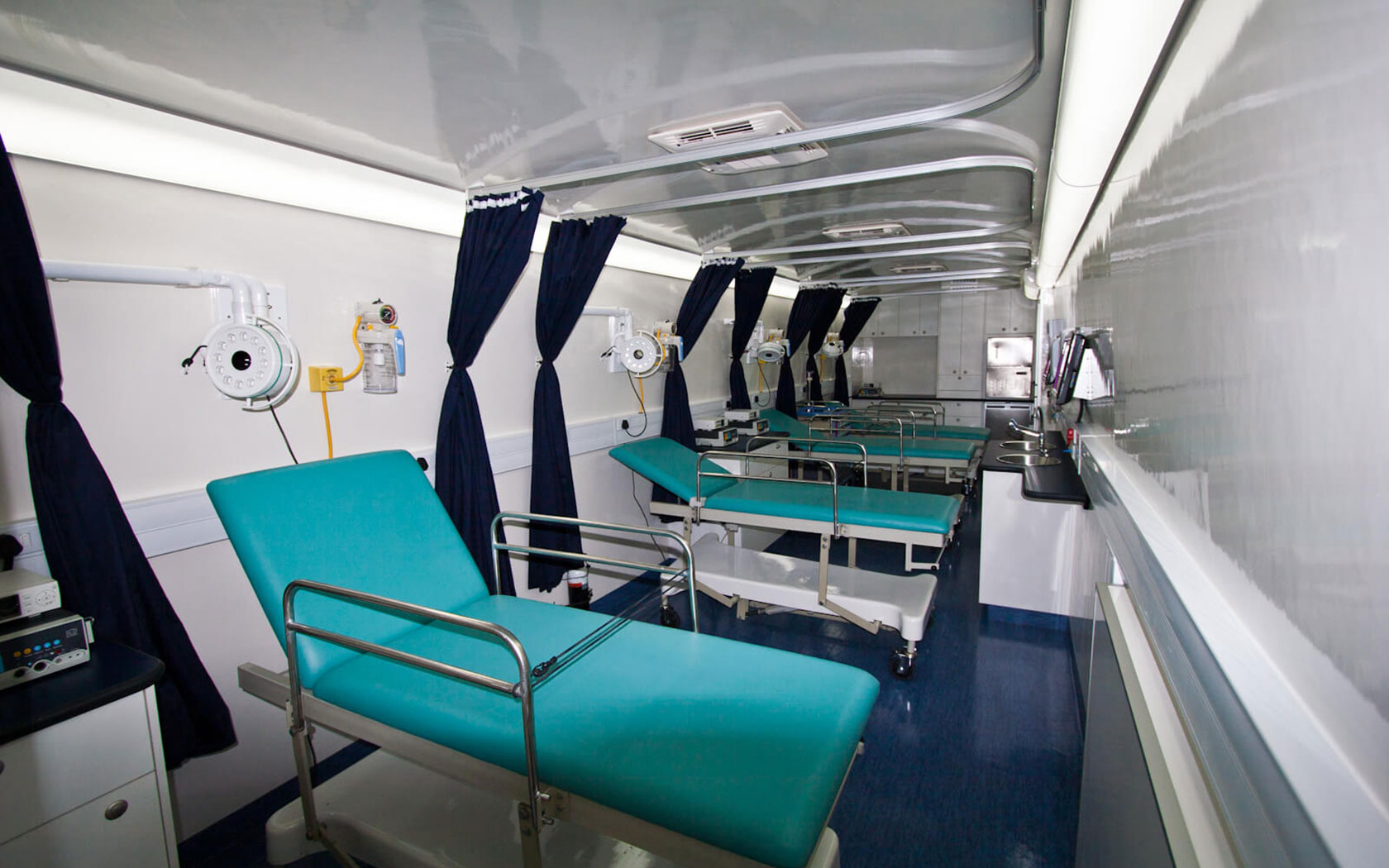 The mobile circumcision clinic interior