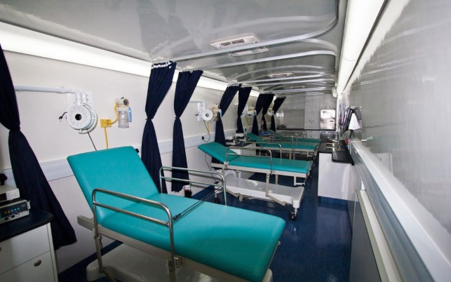 Mobile circumcision clinic interior