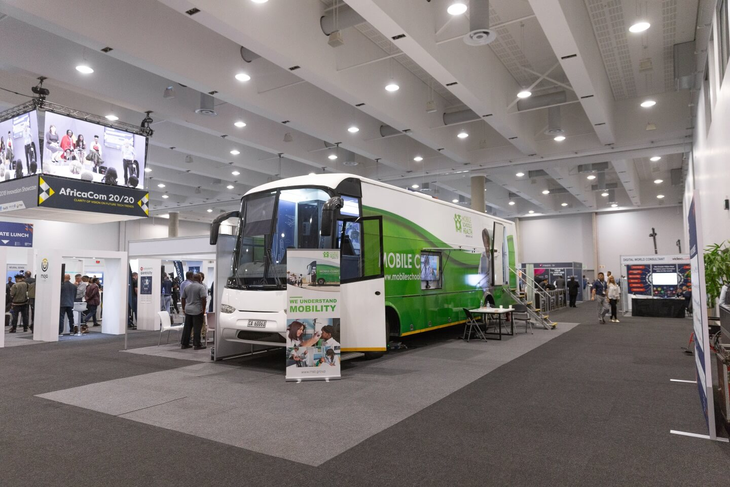 Mobile Schools Health bus at AfricaCom